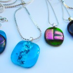 5 pendants and chains