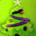 Christmas tree bas relief