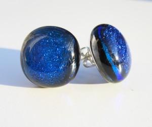 blue dichroic studs