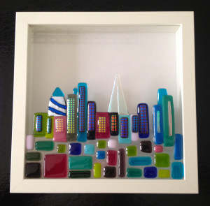 framed glass London cityscape