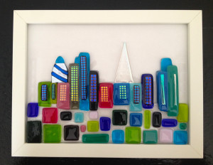 framed london cityscape